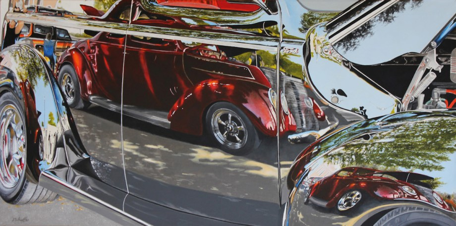 Title Candy Apple Tuxedo Medium Acrylic Size 24 x 48 x 1.5