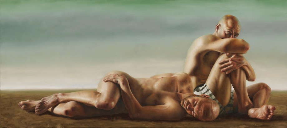 "Title Cain Medium Oil on Linen Size 35"" x 79"""