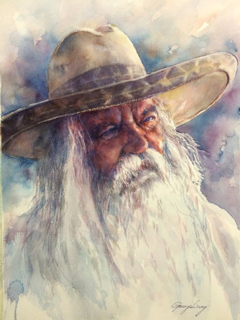 "Title Sweden Cowboy Medium Watercolor Color Size 22"" x 15"""