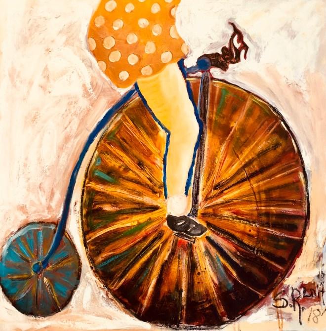 Title Bicicleta Medium oil on canvas Size 80x80cm