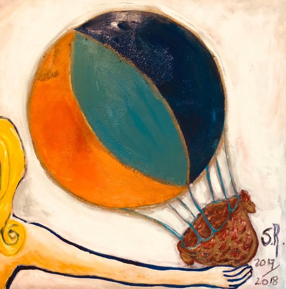 Title Balão Mágico Medium oil on canvas Size 80x80cm