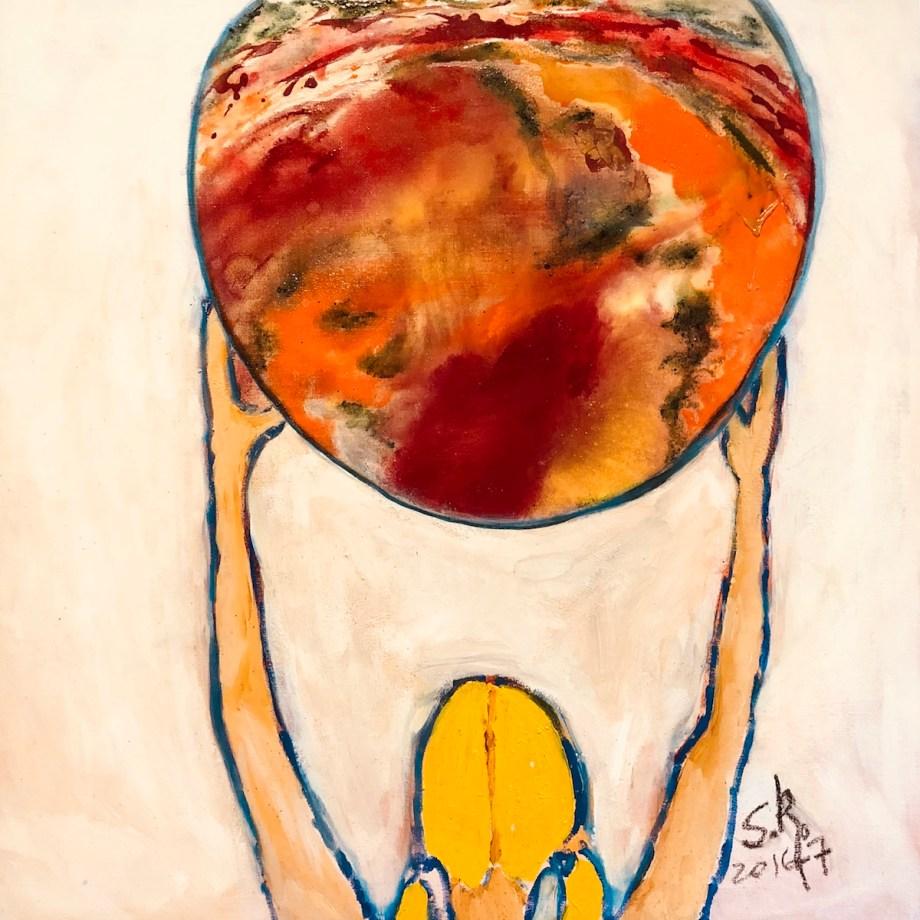 Title O Mundo Medium oil on canvas Size 80x80cm