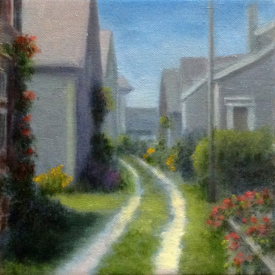 "Title Sunny Nantucket Medium Oil Size 8""x8"""