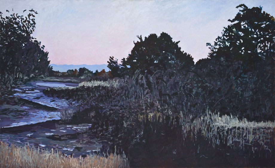"Title Low Tide on the Marsh Medium Oil on Canvas Size 36"" x 60"""