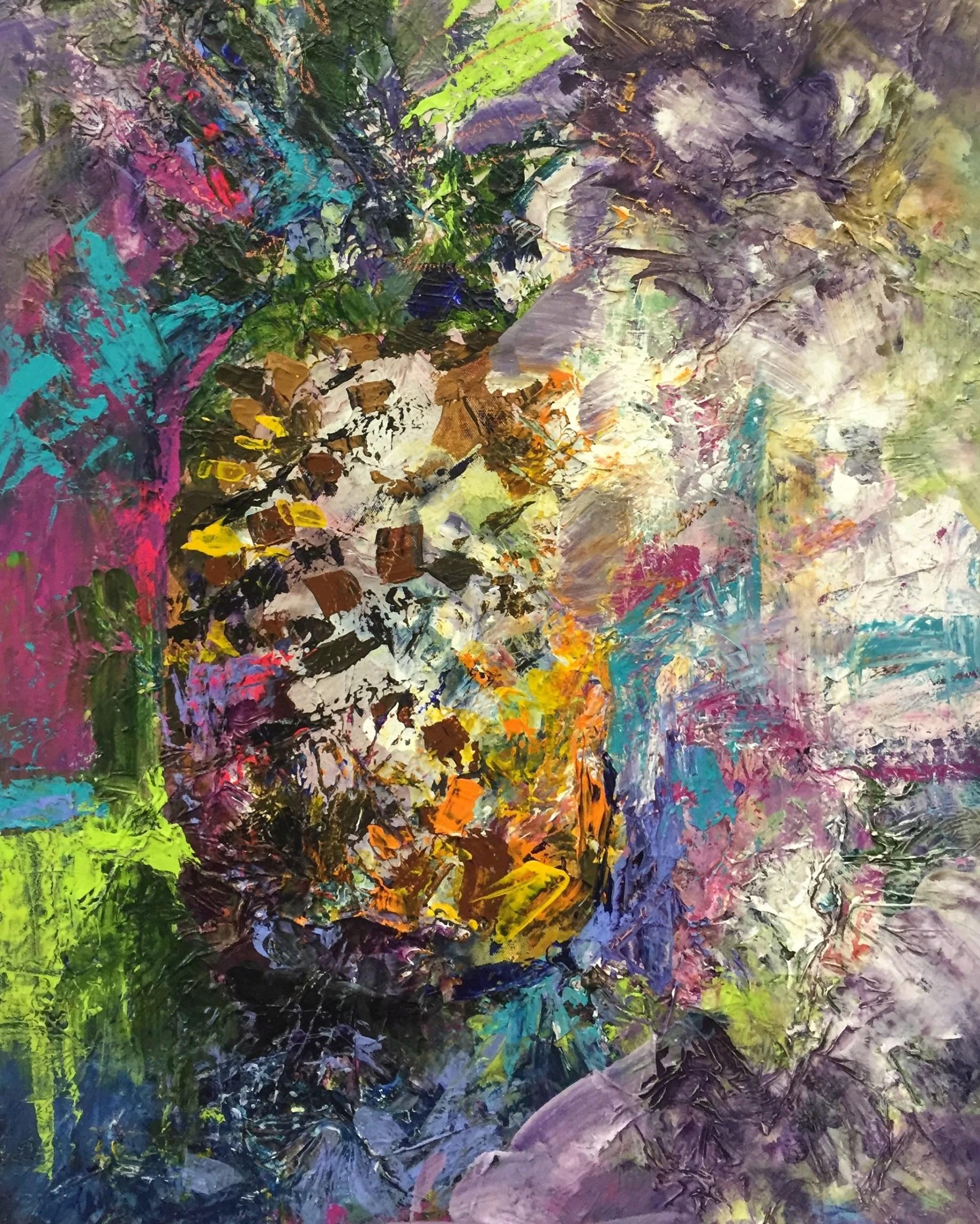 Title Fighting the Explode Medium Acrylic Size 18 x 24