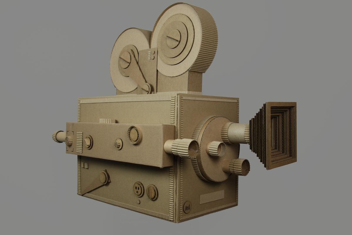 "Title Video Camera Medium cardboard Size 24""x30""x20"""