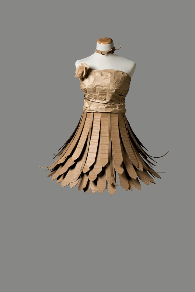 "Title Cardboard Dress Medium Cardboard Size 60""x30'x30"""