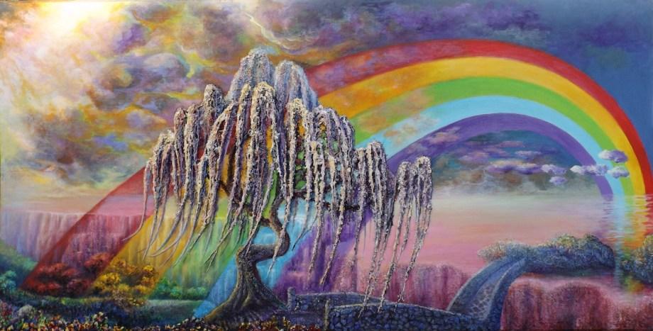 Title Rainbow Bridge Medium Acrylic Size 40'x80'