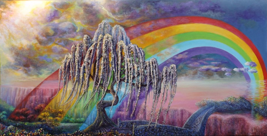 Title Rainbow Bridge Medium Acrylic Size 40'x80'