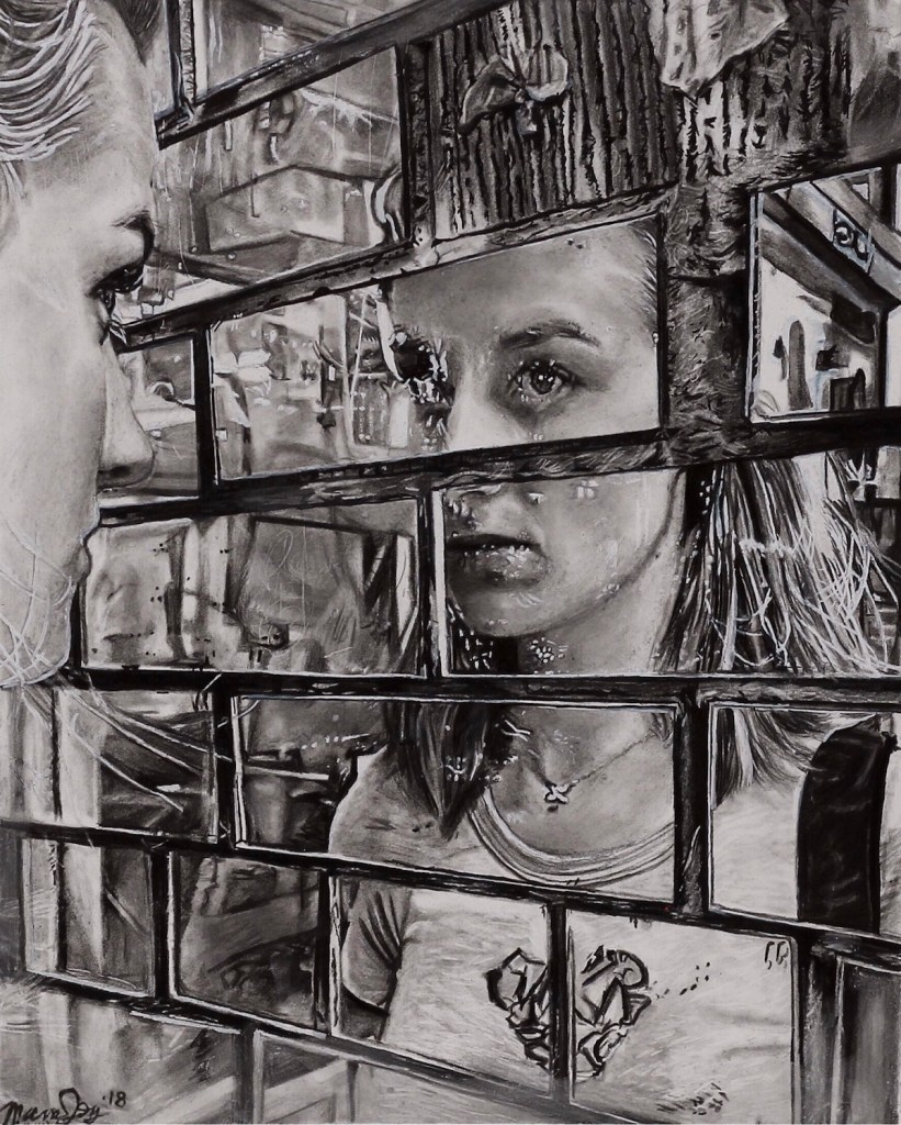 Title Inner Reflection Medium Graphite/ink Size 8 x 10