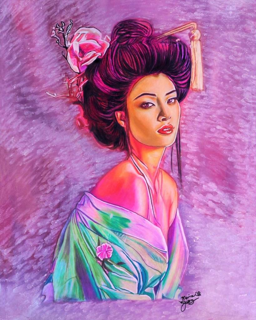 Title Geigi:Spring Medium Colored pencils/markers Size 9 x 12