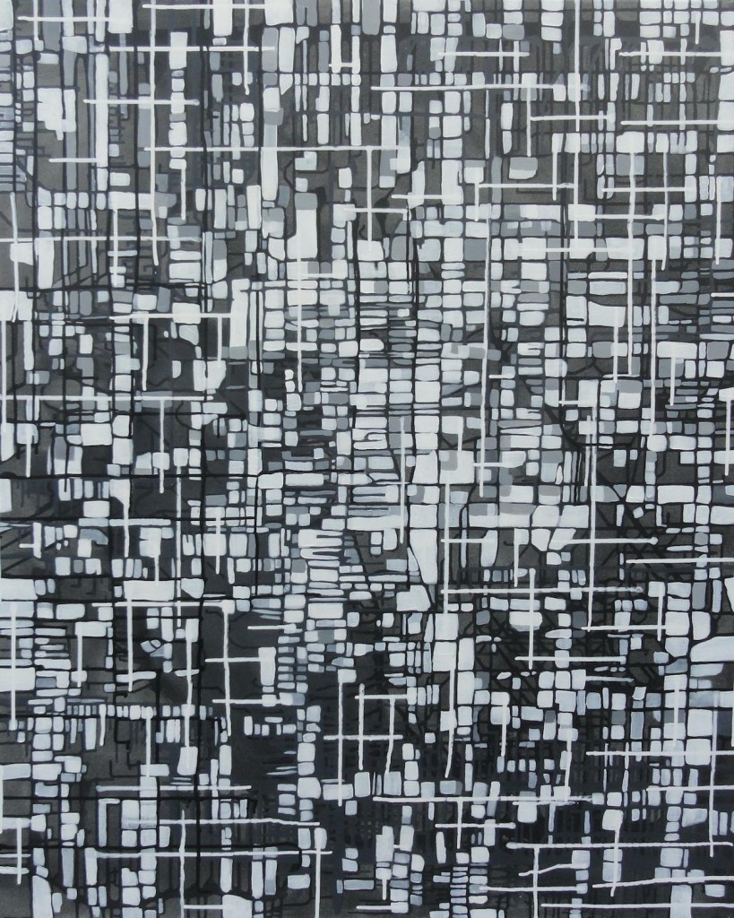 Title Cell Assembly Medium Mixed Media Size 90cm x 120cm