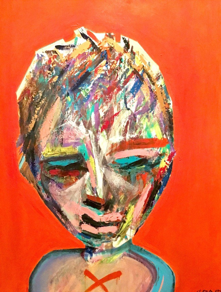 """Title 'X' Marks The Spot Medium Acrylic and Oil on Canvas Size 30"""" x 40"""""""