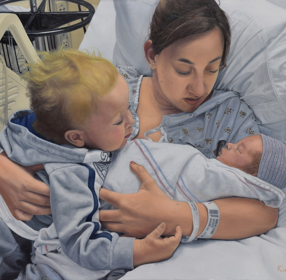 Title Motherly Love Medium Oil on Linen Size 18 x 24 inches