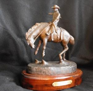 Title First Jump Out Medium Bronze Sculpture Size 10L x 8W x 10T x 8lbs