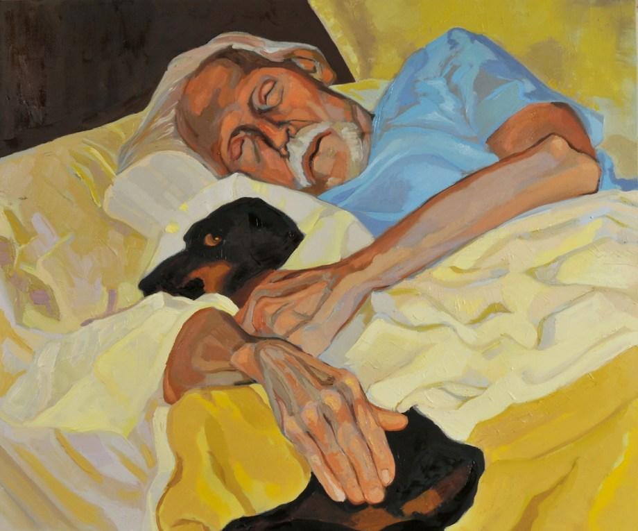 Title Portrait of the Artist Gray Foy Medium Oil on Canvas Size 36x30