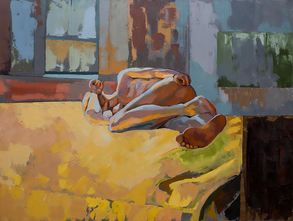 Title Nude #5 Medium Oil on Canvas Size 48x36