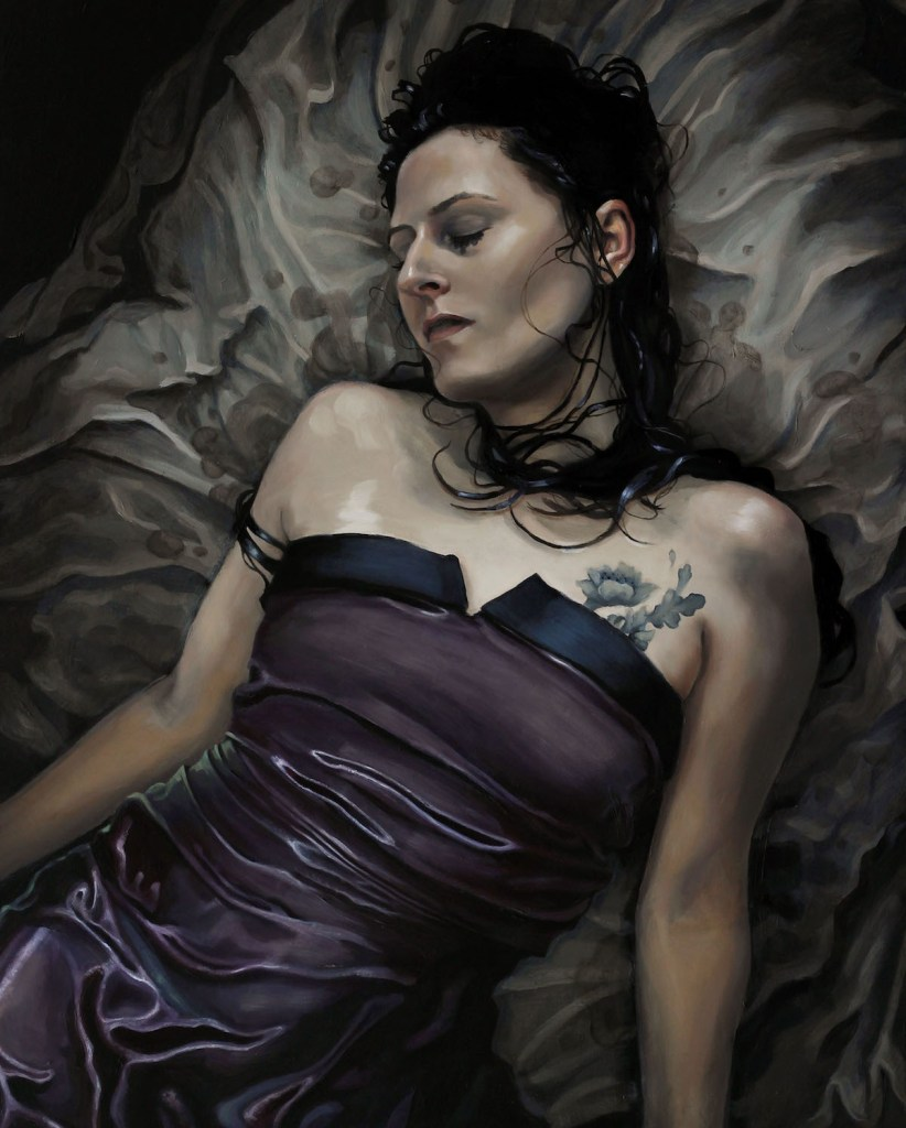 Title Ophelia Medium Oil on panel Size 30 x 24 inches