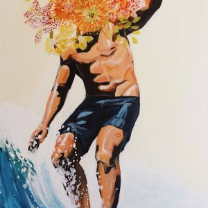 "Title Summer Madness Medium acrylic Size 24x36"""