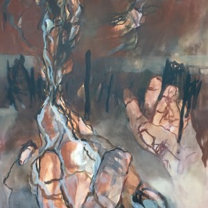 Title Allegory of the Cave (Höhlengleichnis) V Medium acrylic on canvas, floating Size W100xH120cm