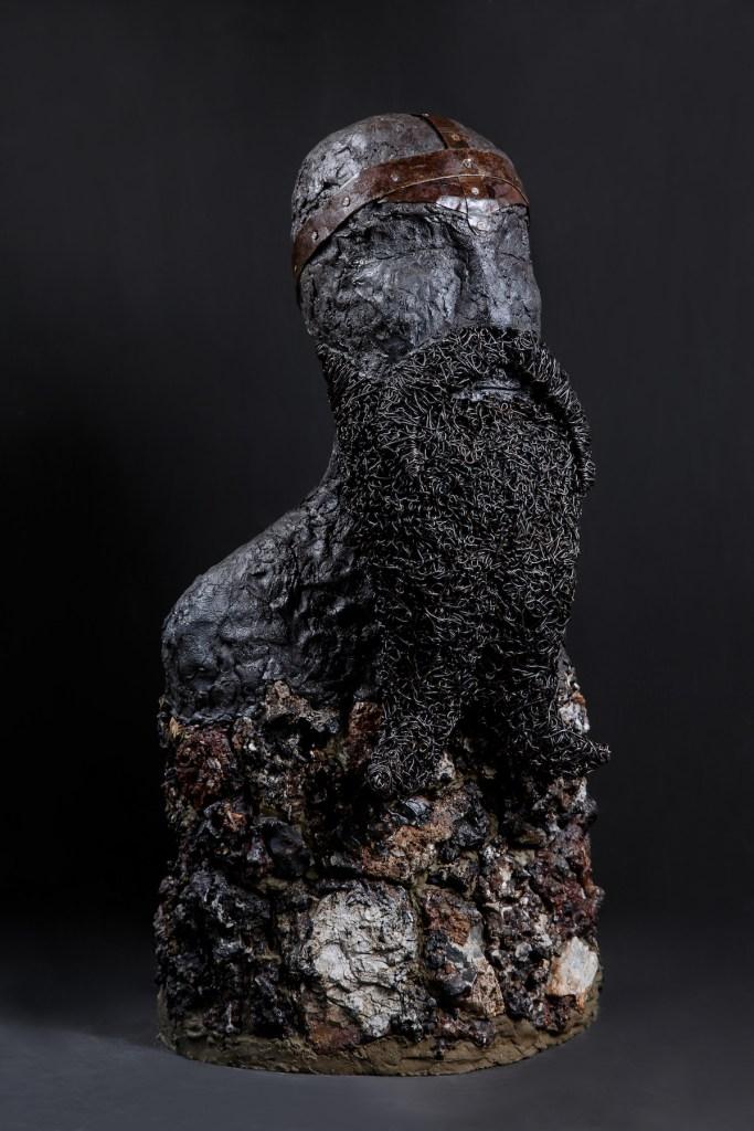 Title Svarog Medium Mixed media, stone, steel, concrete, enamel paint Size 30 H x 15 W x 14 in
