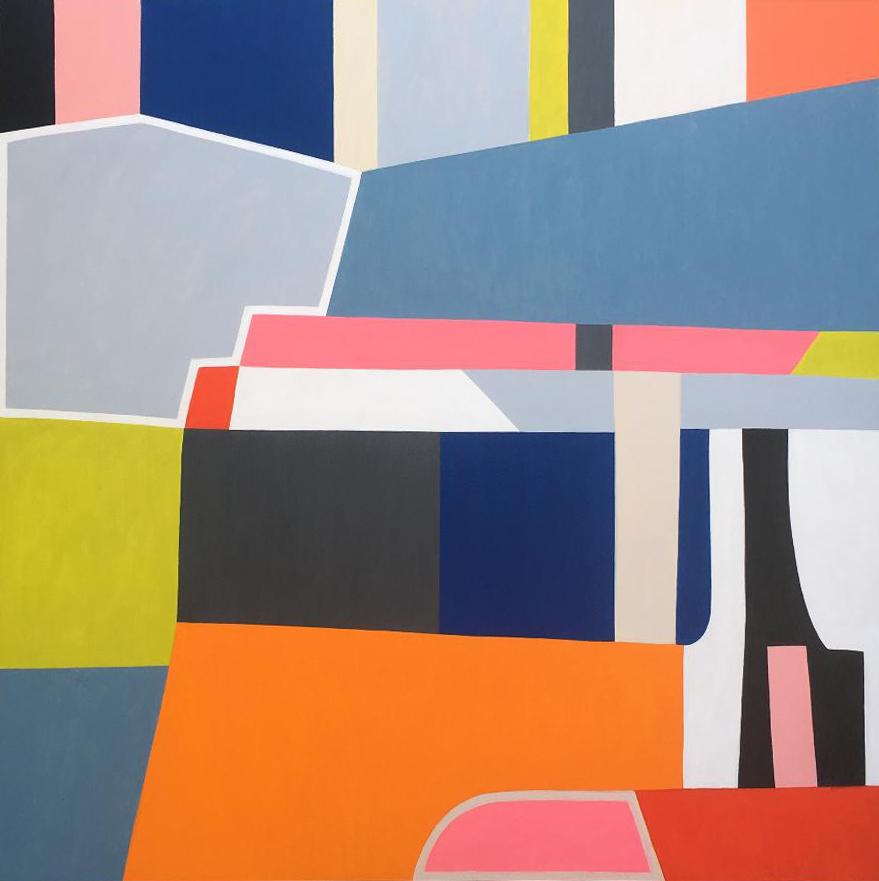 "Title The Optimist Medium Acrylic on Wood Panel Size 48 x 48"""