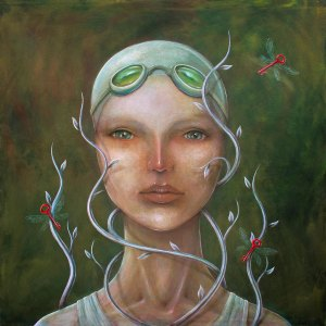 Title Growing thoughts and secrets Medium Acrylic and oil on canvas Size 120 x 120 cm