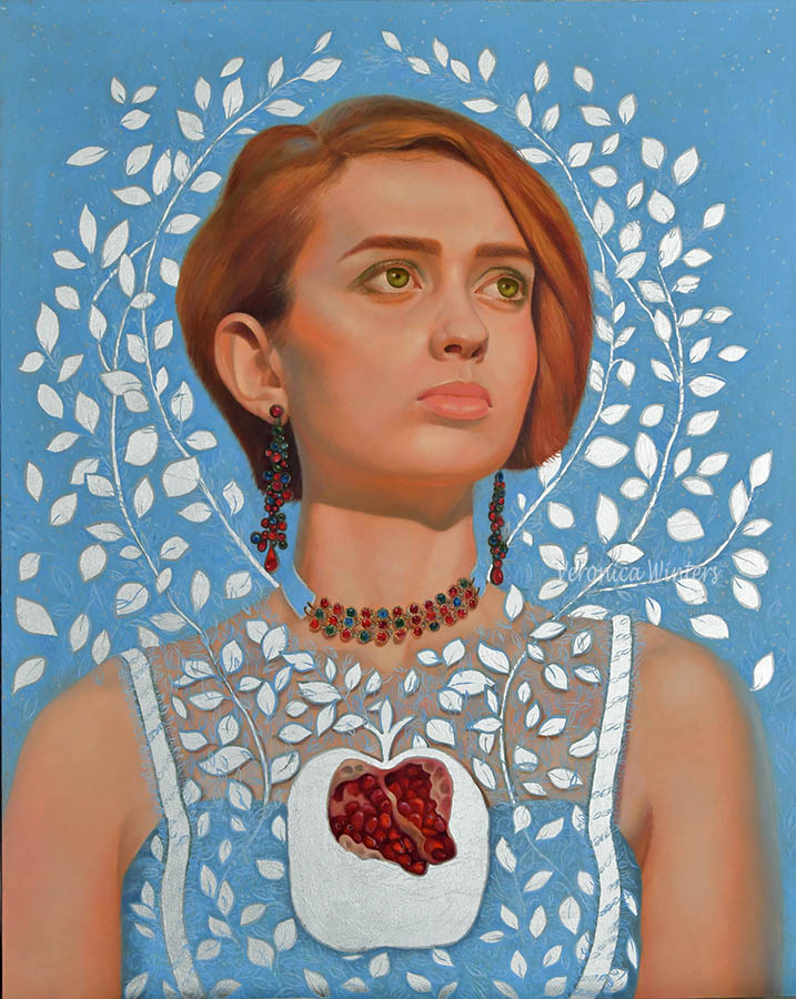 Title A Loving Heart Medium oil on panel with aluminum leaf Size 16x20 inches