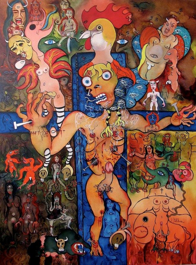 Title LE RENIEMENT DE PIERRE (Peter's repudation) (2017) Medium Oil on Canvas Size 30 X 40 inches