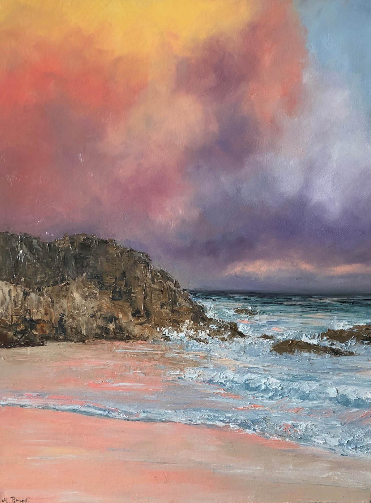 Title Sunset over Bermuda Medium Oil on Canvas Size 24x18
