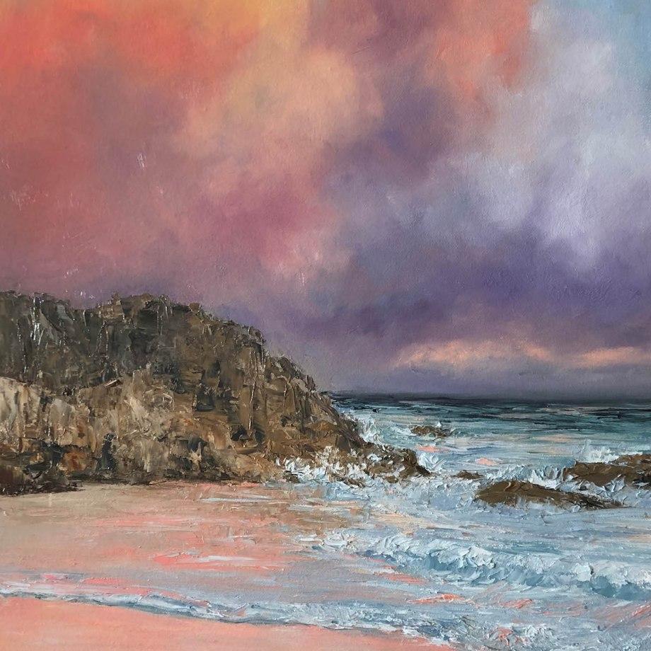Title Sunset over Bermuda Medium Oil on Canvas Size 24x18