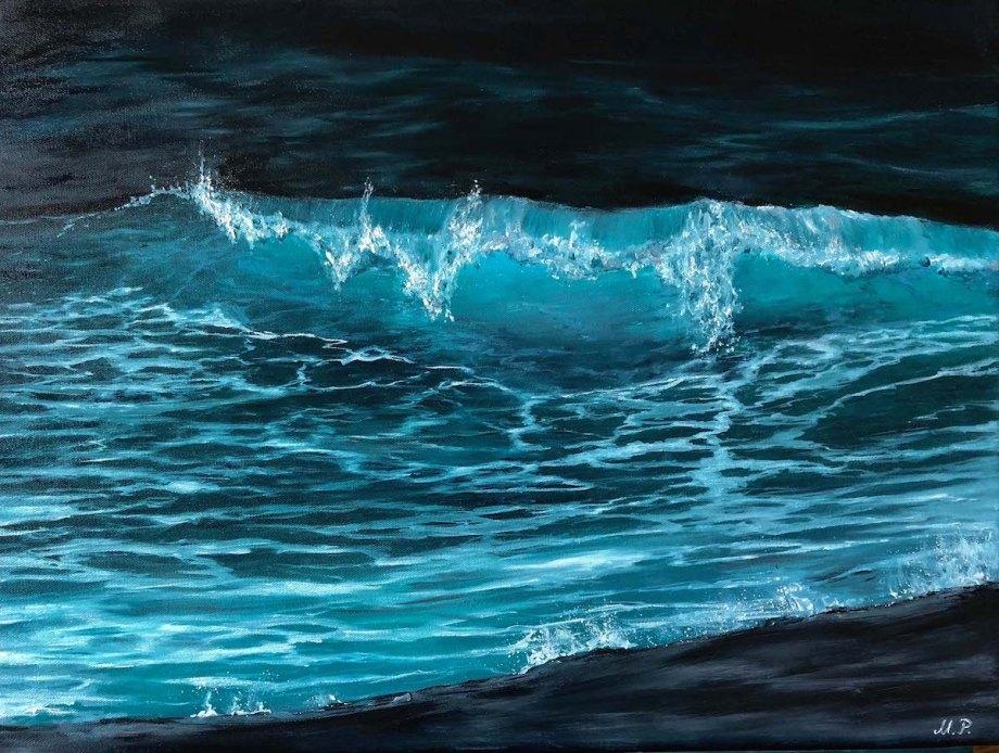 Title Breaking Blue 2.0 Medium Oil on Canvas Size 18x24