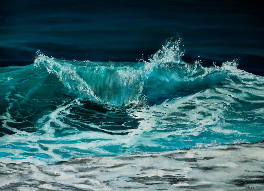 Title Breaking Blue Medium Soft pastels on paper Size 20x30