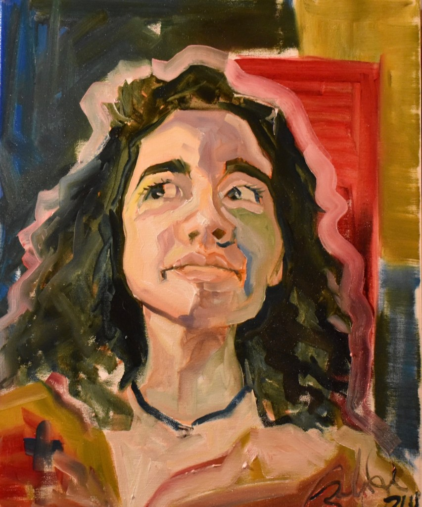 Title Mariana. Medium Oil on canvas Size 11in by 14 in