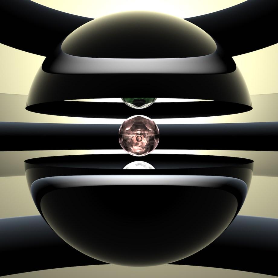 "Nucleon Medium UHR Inkjet Print on Acrylic Glass · Mounted to Aluminum Dibond Size 32"" x 32"""