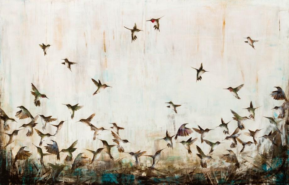 "Free Wings Medium Oil on Panel Size 54x84"""