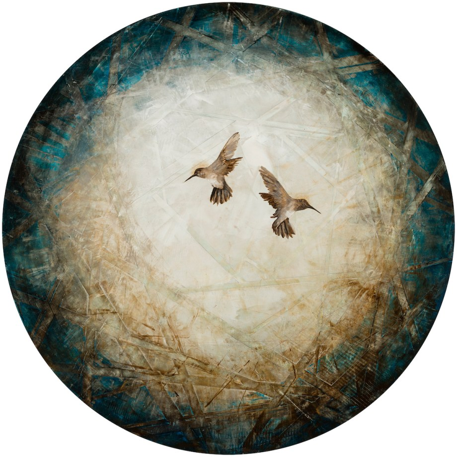 """Spheres of Tranquility Medium oil on Panel Size 46x46"""""""