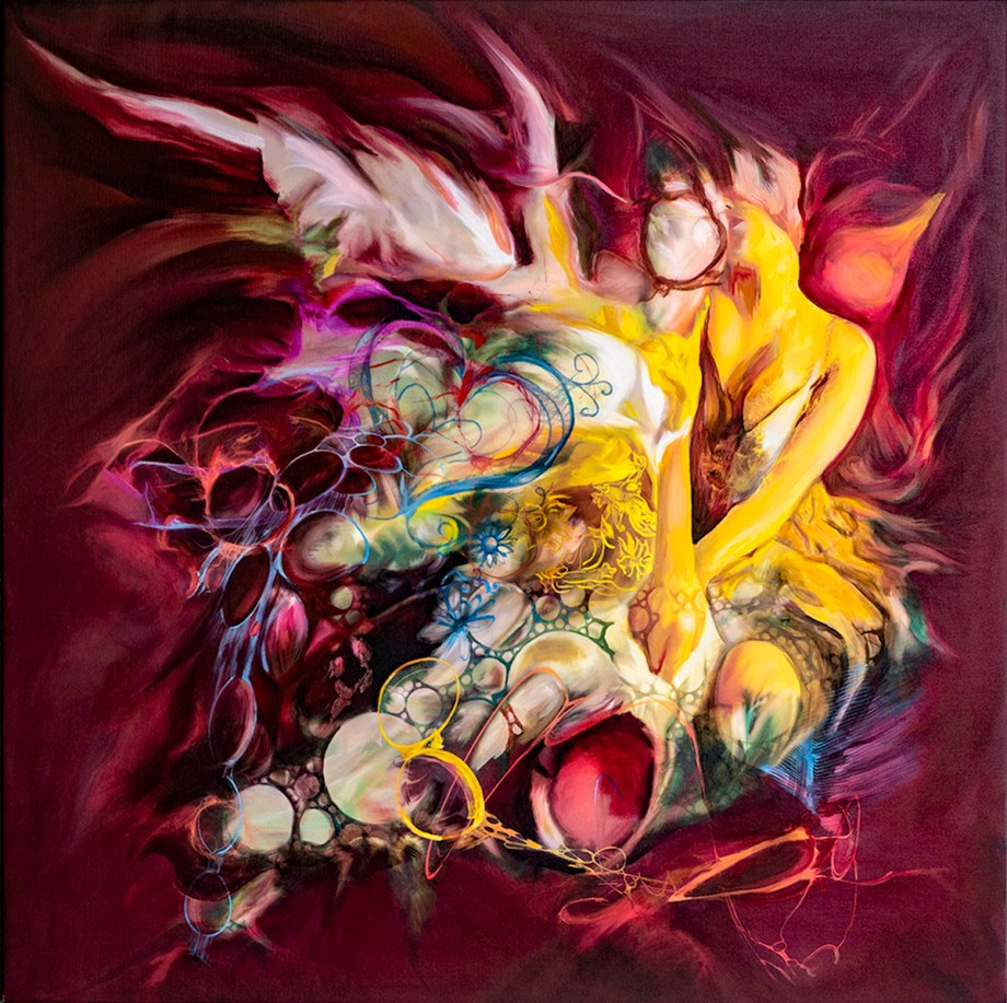 Dream It Medium Oil on Canvas Size 42 x42""