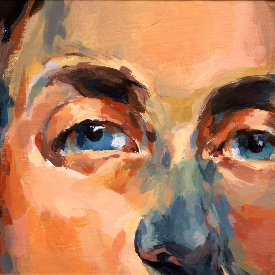 "Portrait of a Man 1 Medium Tempera on linen board Size 8"" x 10"""