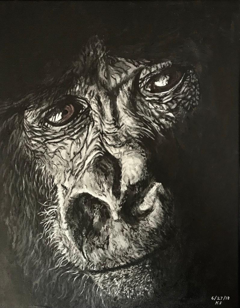 "Can You Feel My Soul? Medium Acrylic on Canvas Size 11x14"" (WxH)"