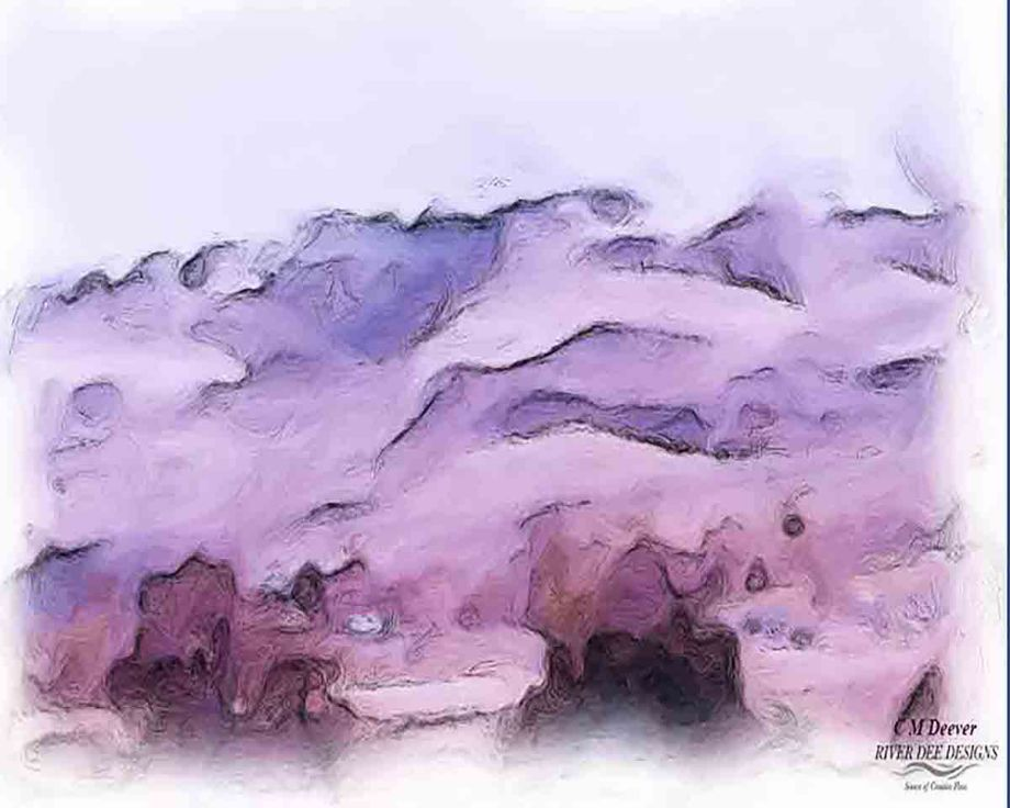 Mountains As She Wanted Them To Be . . . Medium Digital Photography Size 8 x 10 or 16 x 20