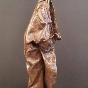 Hanging Out #3 Medium bronze, granite base Size 48x12x12