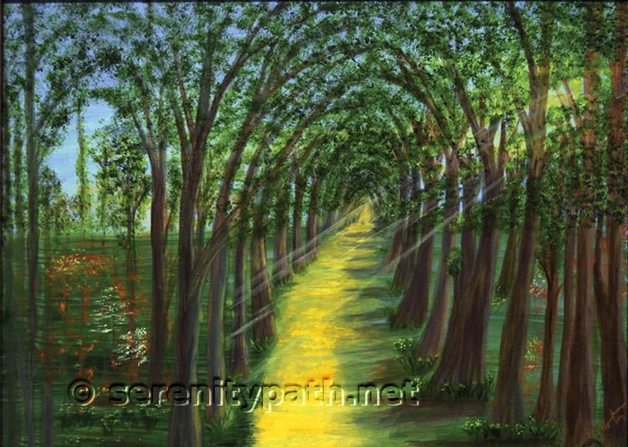 """Path of Dreams"" Medium Acrylic Size 16x20"