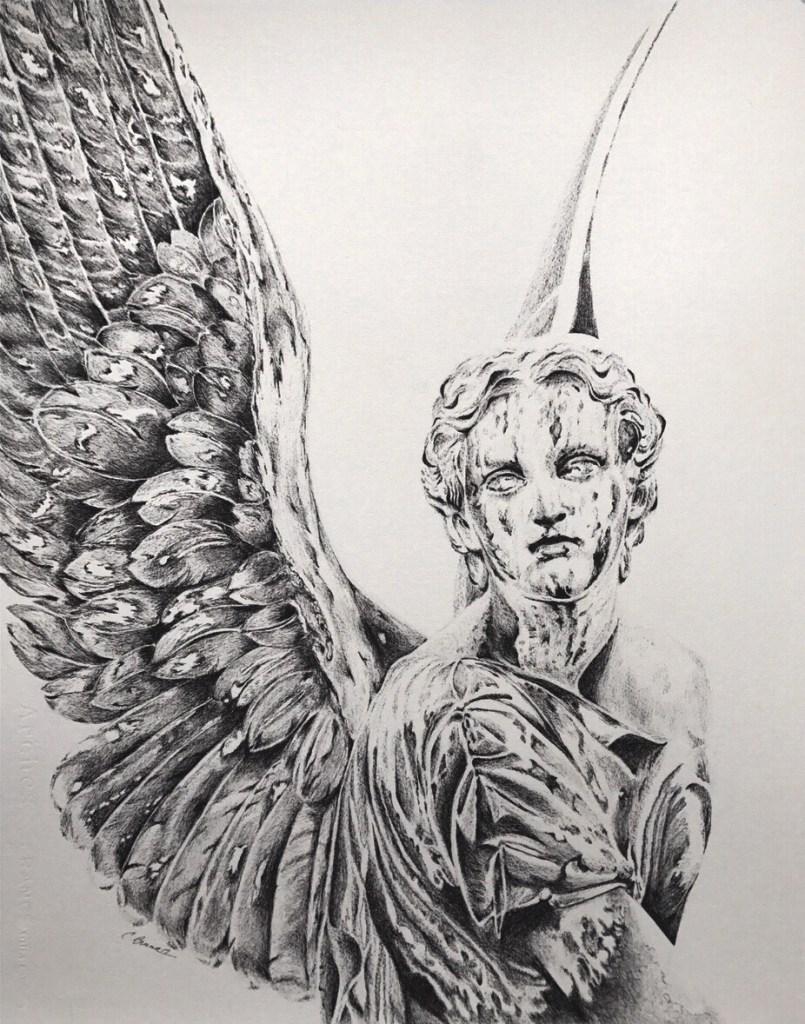 AZRIL Medium Micron Ink Pen on Arches Rough Watercolor Paper Size 16