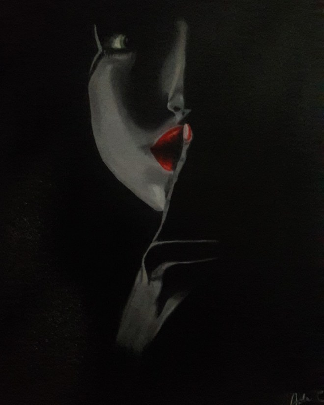 Silence in the dark Medium Oil on canvas Size 18x24