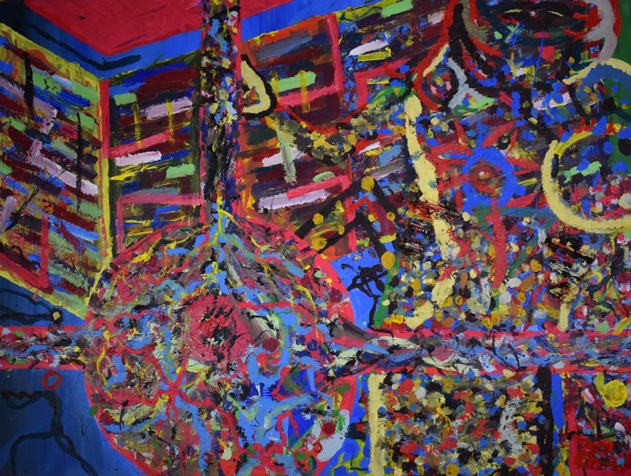 "untitled III Medium oil, acrylic on canvas Size 36"" x 36"""