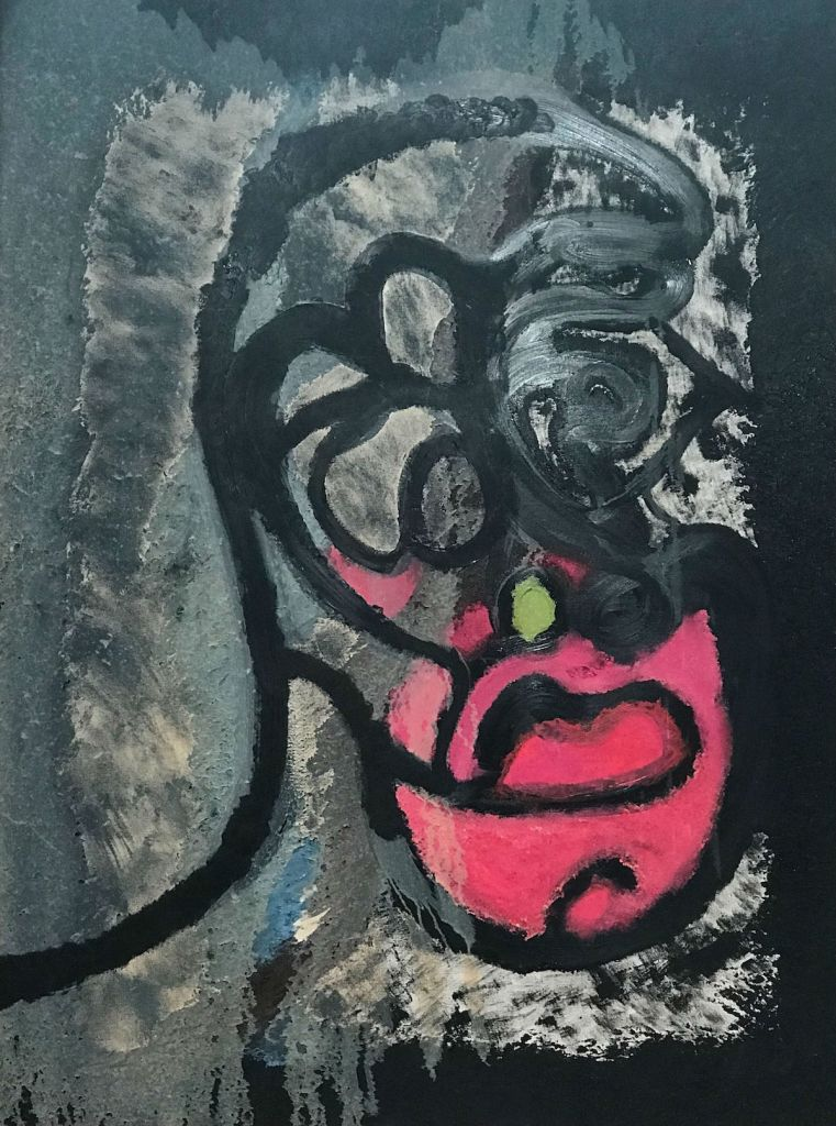 """Hot Mouth Medium Oil sponged on canvas Size 36""""x48"""""""