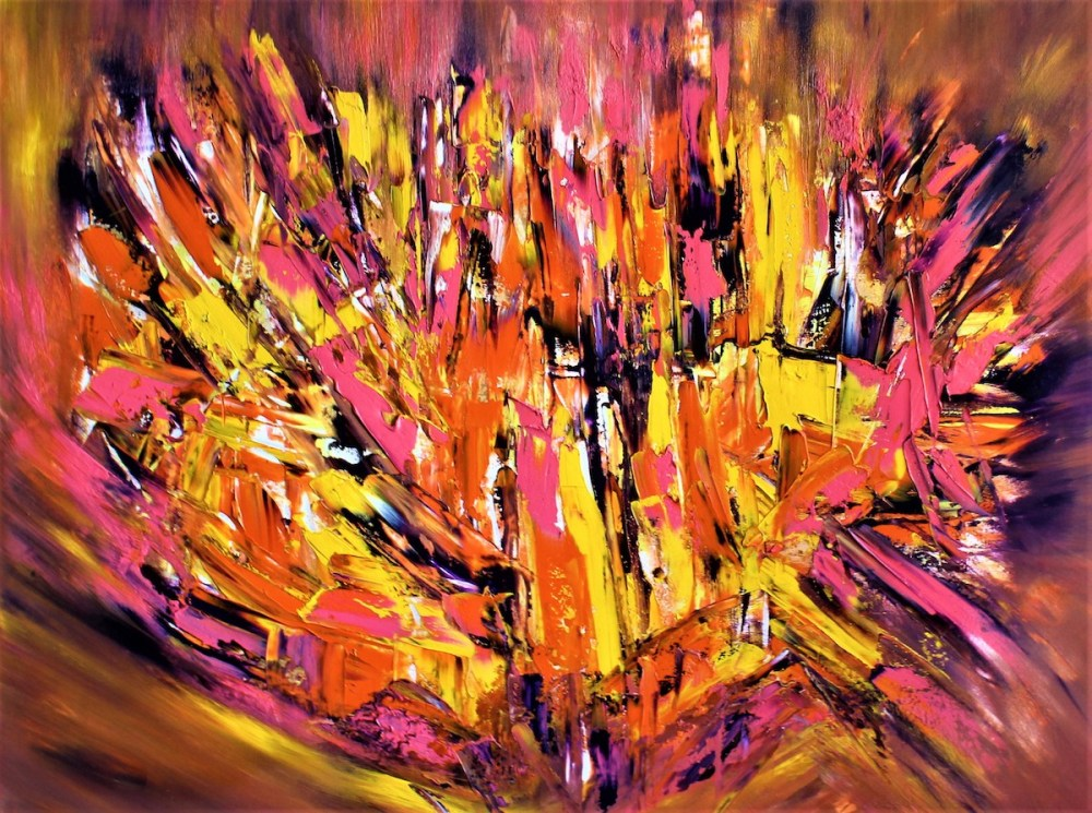 "Ignited Passion Medium Oil on Canvas Size 30"" x 40"""
