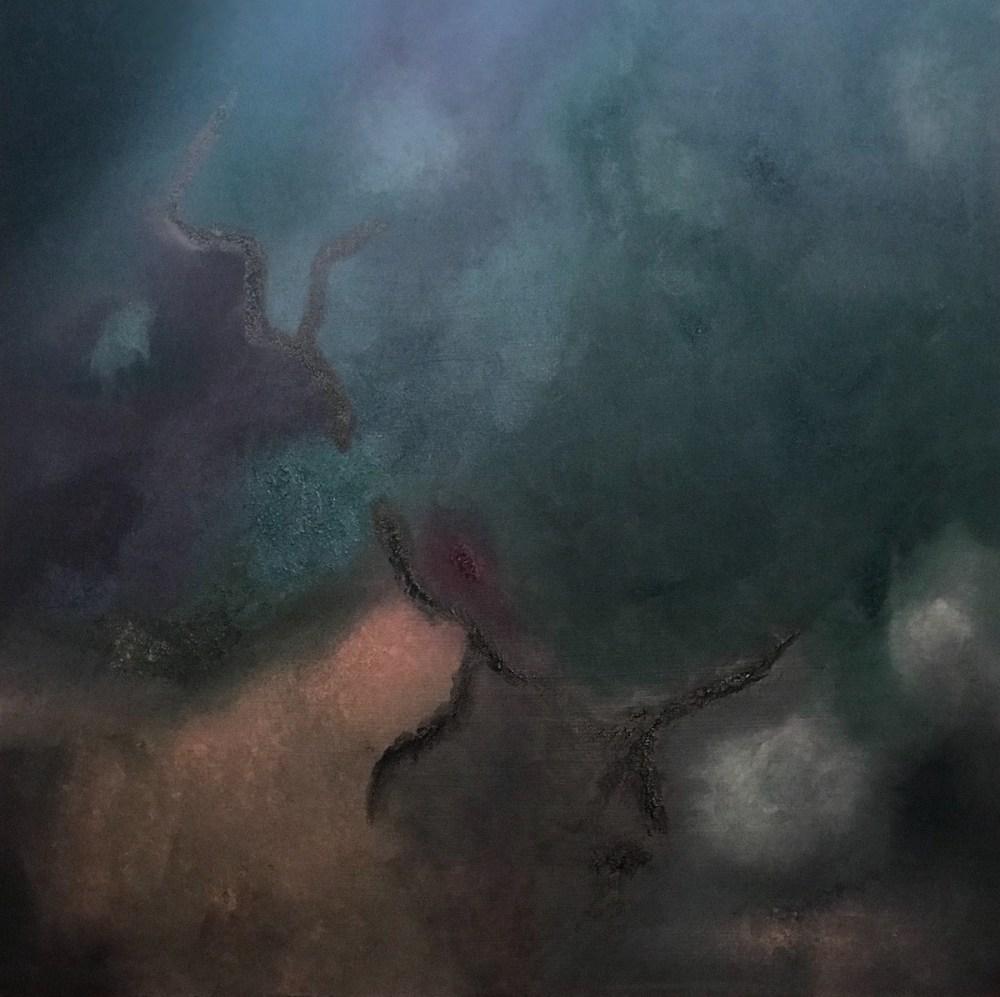 "Ethos Medium Oil sponged on canvas Size 50""x50"""