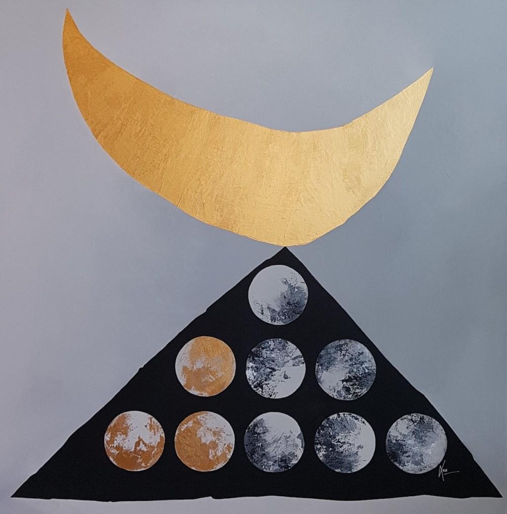 COSMOS 7.o Medium acrylic on canvas Size 20 x 20